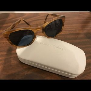 Warby Parker Tortoise Sunglasses with case